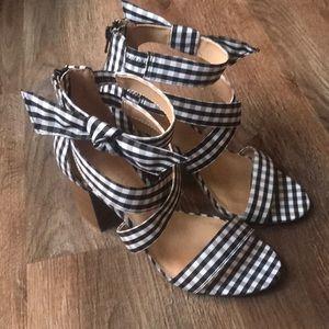 LC Lauren Conrad heels | Animal print high heels, Heels
